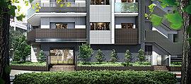 エントランスアプローチは、仙台市内水ハザードマップ(浸水想定区域図)に基づき、敷地の高さを50cm上げ、将来的な安全性に配慮しながら、緑豊かな美しい街並みと調和するように、一つひとつの素材を吟味して、私邸としての風格と落ち着きを演出しました。