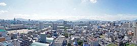 現地14階相当、東方面の眺望(2015年6月撮影)
