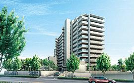 街並と調和する落ち着いた佇まいに、未来につながる先進性を融合したファザードデザイン。全邸南向きの住棟配置により、陽光にあふれた開放的な暮らしを実現します。