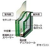 1階住戸の窓には、防犯合わせガラスを採用。※面格子付窓除く