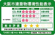 CASBEE(建築環境総合性能評価システム)に基づき、大阪市の地域性を考慮した、大阪市の「建築物総合環境評価基準」により評価するものです※1