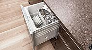 ビルトインタイプで見た目もすっきりな食器洗い乾燥機を採用。日々の食器洗いの手間を軽減します。