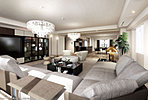 ゆとりある広さを確保したラグジュアリーな住空間は、深いやすらぎと愉悦に満たされています。全邸2面以上の開口ルームプランは、私邸としてあるべき静謐性と開放感をともに享受。