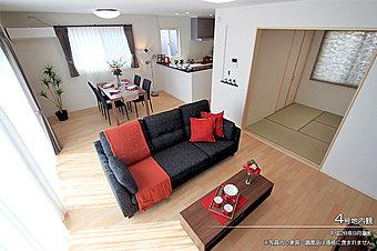 [4号地 内観]平成28年9月撮影 ※写真内の家具・調度品は価格に含まれません。