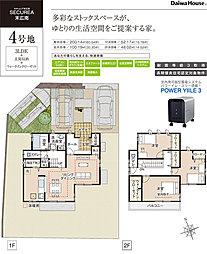 [2号地 プラン図]図面を基に描いておりますので、プラン及び外構・植栽は実際と多少異なる場合があります。また、家具・家電・備品などは価格に含まれません。