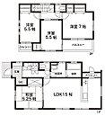 【 1区画参考間取り 】 延床面積 89.23m2(27坪)  *建物参考価格 1,312.2万円*