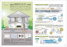 PM2.5も除去できる高性能フィルターを装備した換気システム