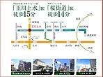 「玉川上水」駅は2駅2路線利用可能!「西武新宿」駅直通39分!