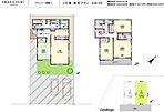 「参考プラン」 洗面室に便利な収納、2Fは東南に全面バルコニー、納戸付き