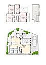 13区画の間取りになります。24帖のLDK・大型小屋裏収納が特徴です。