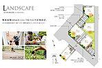5邸の配棟計画は165m2以上のゆとりある敷地面積を確保しました。 全邸カースペース2台以上。