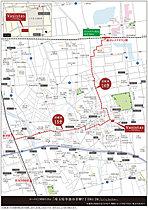 イオンレイクタウンへ自転車14分!(実測値・2750m)