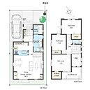 【間取り図No3】 対面式キッチン、リビング階段