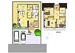 【B棟間取り図】 3LDK+納戸。広々メーターモジュールに全居室収納あり!