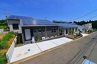 東金市日吉台 太陽光発電の家 自宅の屋根で発電した電気を売って、住宅ローンを軽減!