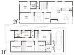 中央に取り入れた中庭は、玄関を開けると板間を介して広がります。1階の和室も中庭に隣接、さらに2階のリビング、寝室も中庭の吹き抜けに面しております。プライベート性が保たれており開放的で心安らぐ空間です。