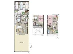 2号地間取り:多彩な大型収納で住空間が広く使える家。