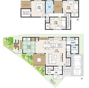 【建物プラン例】土地価格4152万円、土地面積130.61m2、建物価格1728万円、建物面積115.02m2