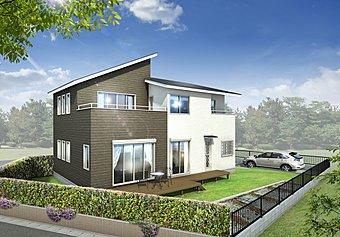 【10-5区画 リビング】 モデルハウスが完成しました! 実際の建物を内覧いただけます