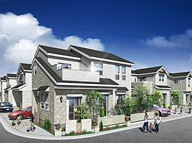 全棟敷地面積129m2以上、駐車場2台標準で解放感ある家。