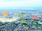 緑と利便に満ちた暮らしやすいロケーション!(※掲載の航空写真は、平成26年7月に撮影したものに一部CG加工を施しております。)