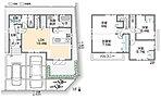 2階居室は、お子さまが大きくなるまでは広々1ルームとしてご利用いただける「2ドア1ルーム」で計画。ライフステージに合わせた間取り変更が可能です。(施工例写真)