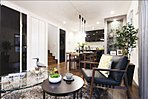 リビングダイニング ※掲載の写真は、2015年12月にモデルホーム(4号棟)および1号棟、7号棟をそれぞれ撮影したもので家具・調度品は販売価額に含まれておりません。設備等は住戸により異なります