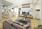 白い壁と木調素材が調和する ウォームモダンデザイン。