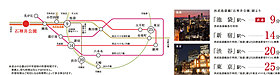 「池袋」駅へ直通9分、「東京」駅へ25分の都心快適アクセス。