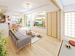 【家族の成長に合わせて5LDKに対応できる家。】 2Fの10.7帖の洋室は、将来、間仕切壁を作ることで、家族の成長や要望に合わせて2部屋に分けることができます。(※間仕切壁対応は有料オプションです。)