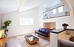 【現地写真】勾配天井&蔵・サブリビングのあるリビング