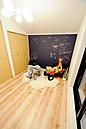【現地写真】洋室にも黒板クロスを使用!