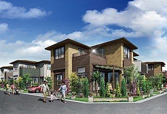 重厚感ある邸宅風デザインと、美しい素材感が生む個性