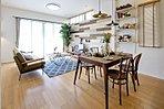 木組みのリビング・スタジオキッチンのMIXプラン※モデルハウス20号棟
