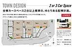 【区割り図】全棟カースペース2台以上標準の、ゆとりある配棟計画