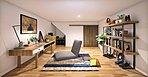 【中2階大収納】収納として使用するほかにも、隠れ家のような趣味のスペースとしても使えそうです。※イメージ