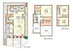 【中2階大収納の家 モデルハウス:1号棟】収納が充実したプランです。リビングの吹抜けは開放感たっぷりです。