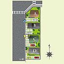区画図です。全4棟(2016.09.16作成)