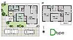 D棟の間取りです、全室6帖以上の間取りと、4.5帖のサービスルームあり
