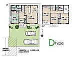 B棟(雅仕様)間取りです。全室南向き、3LDK+玄関納戸、ウォークインクロゼット