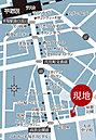 【周辺お店MAP】平塚駅南口から現地周辺は飲食店をはじめ様々なお店が軒を連ねます