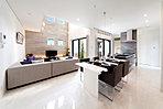 弊社施工モデルハウス(芦屋市で公開中)。自由設計&充実の設備仕様で、ワンランク上の住まいを実現。