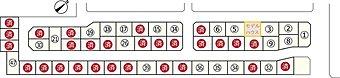 八軒7条西4丁目 区画図 残り22区画 (2016.08時点)