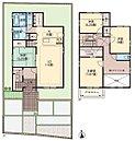 1号棟 3,980万円 4LDK+2S(クロゼット・パントリー) ・敷地面積/143.75m2 ・延床面積/107.19m2