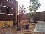 建物とコーディネートされた外構・植栽は、雑貨屋さんとのコラボレーションです (No.4)