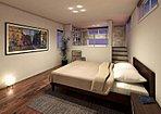 【2号棟】ハーフロフトのある主寝室