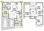 【モデルハウス】 建物面積:98.24m2、土地面積:100.00m2 / 3,690万円