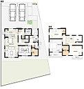 29号棟:敷地面積/209.57m2(63.39坪) 建物面積/114.06m2(34.43坪)
