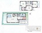 18帖のLDKはリビングイン階段を採用。各室南向き・豊富な収納の間取り