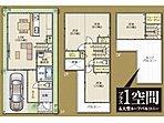 各居室はもちろん、たくさんの収納を設けた片付け上手なプラン。ワイドな21帖のLDKは、対面式キッチンやリビング階段など、 家族間のコミュニケーションに最大限配慮しています。/プラン例